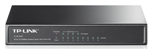 TP-Link SF1008P 8 Port 10/100 Switch with 4x PoE Steel Case