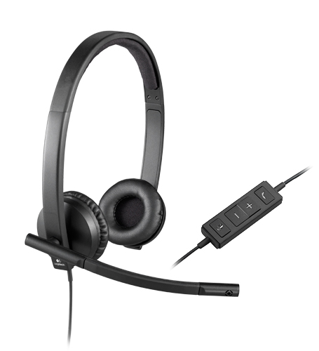 logitech h570e usb headset ms lync compatible stereo from dove electronics. Black Bedroom Furniture Sets. Home Design Ideas