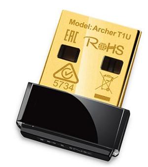 TP-Link Archer T1U USB2.0 Wireless Adapter AC450 Nano 5GHz Only