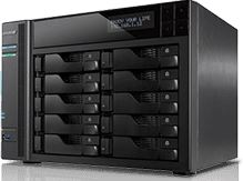Asustor AS6210T 10 Bay Celeron 1.6GHz Quad Core 4GB NAS