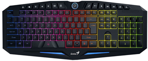 Genius GX K9 Scorpion 7 Colour 14 Fn Key USB Wired Gaming Keyboard