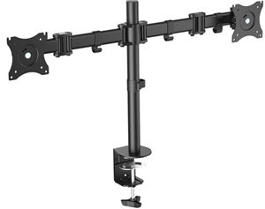 "Digitus 15-27"" Dual Monitor Stand with Clamp Base"