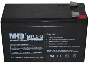 Fujian MS7.2-12 12V 7.2Ah 20HR Lead Acid Battery