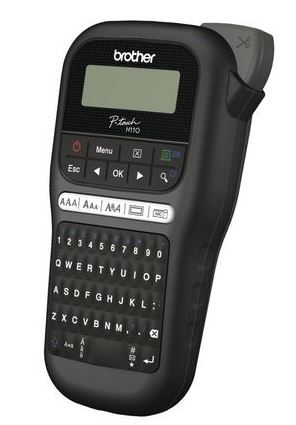 Brother PTH110BK Durable P-Touch Black Label Printer