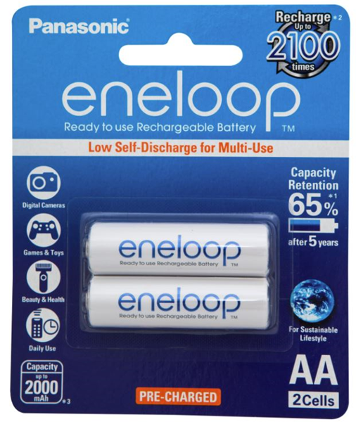 Panasonic Eneloop Aa Rechargeable Battery 2 Pack From Dove