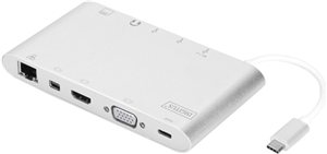 Digitus USB Type-C Universal Mini Notebook Dock with Power Delivery