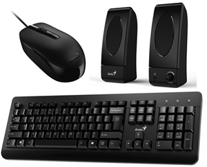 Genius KMS-U130 USB Keyboard & Mouse with Speakers