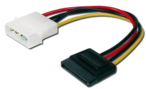 Digitus SATA (Single) to Molex 0.15m Power Cable
