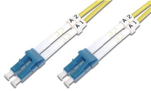 Digitus 2m Fibre Cable LC/LC duplex SM 9/125um OS2