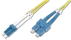 Digitus 1m Fibre Cable LC/SC duplex SM 9/125um OS2