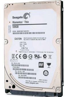 "Seagate Momentus Thin SATA 2.5"" 7200RPM 32MB 500GB HDD 2Yr Wty"