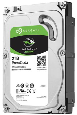 """Seagate BarraCuda SATA 3.5"""" 7200RPM 64MB 2TB HDD 2Yr Wty"""