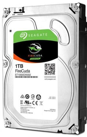 """Seagate FireCuda SATA 3.5"""" 7200RPM 64MB 8GB MLC 1TB SSHD 5Yr Wty"""