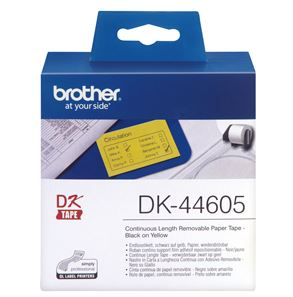 Brother DK44605 Yellow Continuous Removable Paper Tape 54mm x 30.48m
