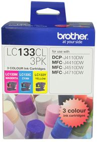 Brother LC133CL3PK CMY Colour Ink Cartridges (Triple Pack)