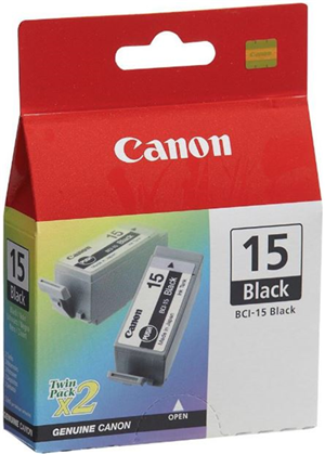 Canon BCI15BK Black Ink Cartridge Twin Pack