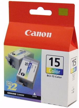 Canon BCI15C Colour Ink Cartridge Twin Pack