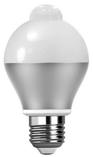Verbatim LED Classic A 6W 480lm 3000K Warm White E27 - Built-In Sensor