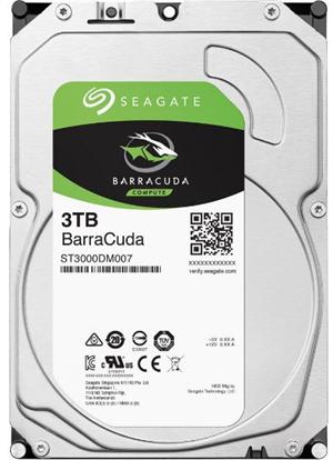 """Seagate BarraCuda SATA 3.5"""" 5400RPM 256MB 3TB HDD 2Yr Wty"""