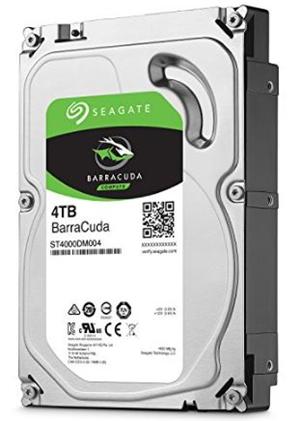"""Seagate BarraCuda SATA 3.5"""" 5400RPM 256MB 4TB HDD 2Yr Wty"""