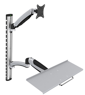 "Digitus 15-27"" Monitor and Keyboard Wall Mount with Arms"