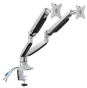 """Brateck 13-32"""" Dual Monitor Counter-Balanced Stand with Clamp Base"""