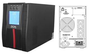 Powercom Macan Comfort 1000VA/1000W On Line UPS Mini Tower