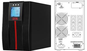 Powercom Macan Comfort 2000VA/2000W On Line UPS Mini Tower