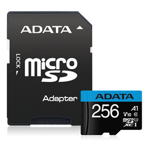 ADATA Premier microSDHC UHS-I A1 V10 Card with Adapter 256GB