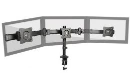 Brateck 13-27 Triple Monitor Stand with Clamp Base