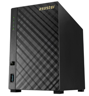 Asustor AS1002T v2 2 Bay Marvell Armada-385 1.6GHz Dual Core 512MB NAS