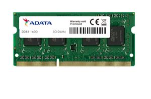 ADATA 4GB DDR3-1600 PC3-12800 SODIMM 256 x 8 Lifetime wty