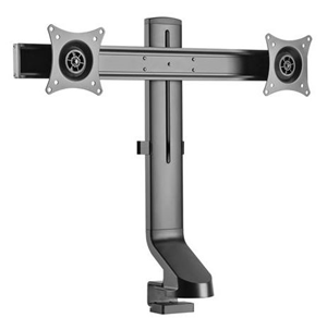 Brateck 17-27 Dual Monitor Sit/Stand Clamp & Grommet Desk Mount