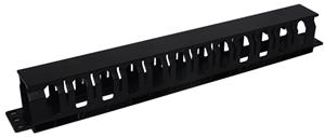 """Digitus Plastic Cable Management Bar 1U 19"""" - Black"""