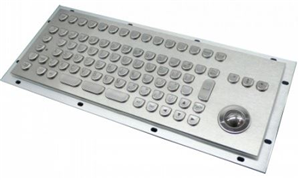 Inputel KB205 Stainless Steel Keyboard + Trackball IP65 - PS/2