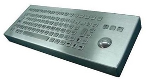 Inputel Stainless Steel Keyboard + Trackball ~ USB